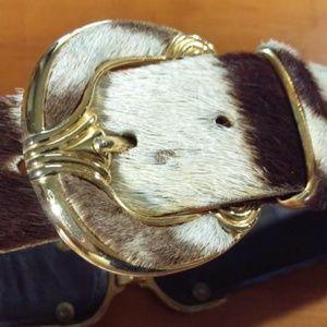 Accessories - Lady's Genuine Zebra Hide Belt